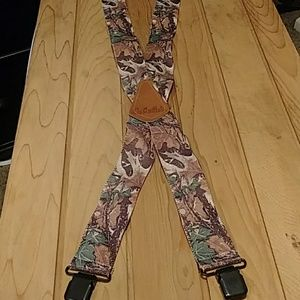 Cabela camouflage suspenders